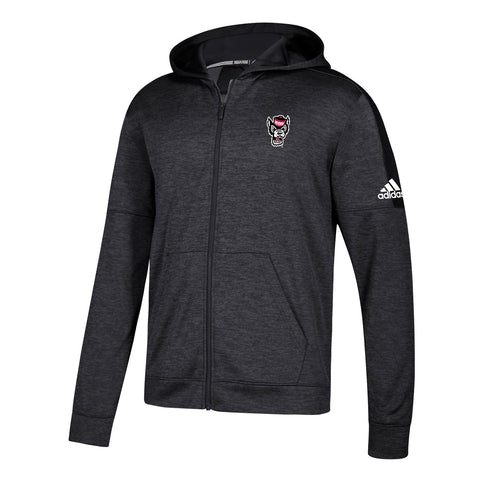 NC State Wolfpack NCAA Adidas Men's Black Climawarm Team Issue Full Zip Hoodie