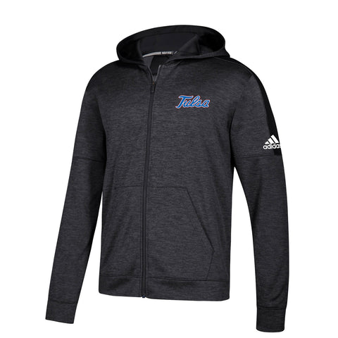 Tulsa Golden Hurricane NCAA Adidas Men's Black Climawarm Full Zip Hoodie