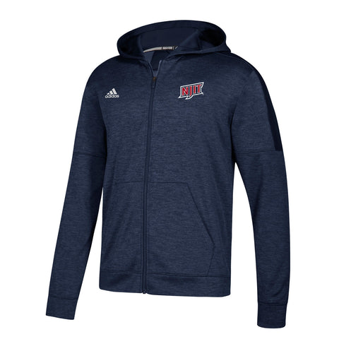 NJIT Highlanders NCAA Adidas Men's Navy Blue Climawarm Full Zip Hoodie