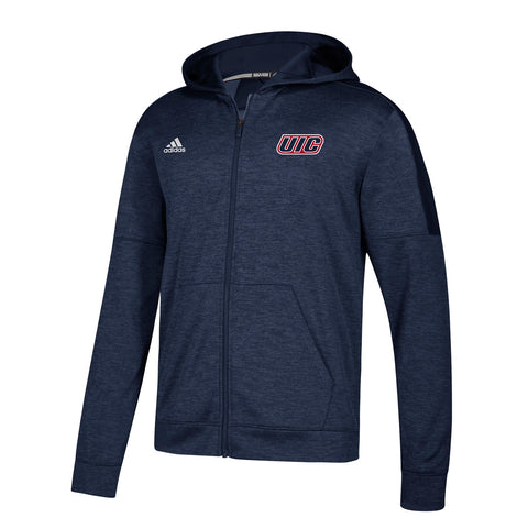 UIC Flames NCAA Adidas Men's Navy Blue Climawarm Team Issue Full Zip Hoodie