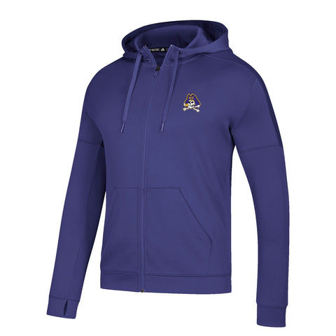 East Carolina Pirates NCAA Adidas Men's Purple Climawarm Full Zip Hoodie
