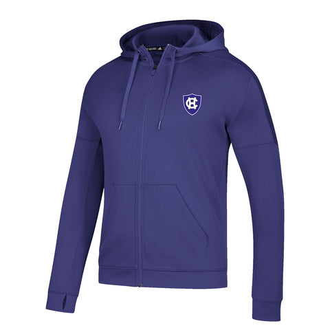 Holy Cross Crusaders NCAA Adidas Men's Purple Climawarm Full Zip Hoodie