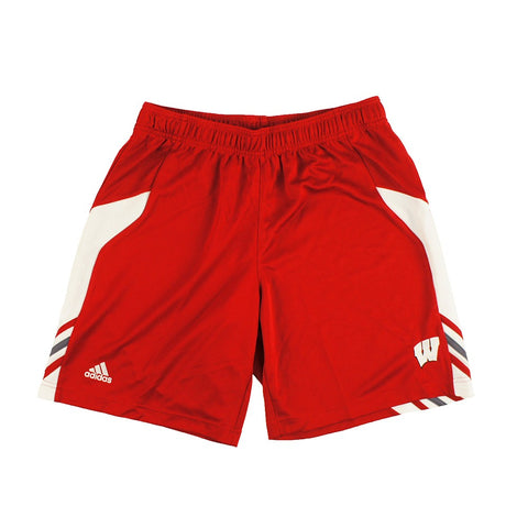 Wisconsin Badgers NCAA Adidas Men's Red Utility Multi Sport Climalite Shorts