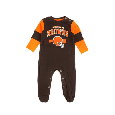 "Cleveland Browns NFL Newborn Brown ""Team Believer"" Long Sleeve Coverall"