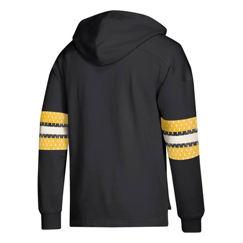 Boston Bruins NHL Adidas Men's Black Team Logo Pullover Hockey Jersey Hoodie