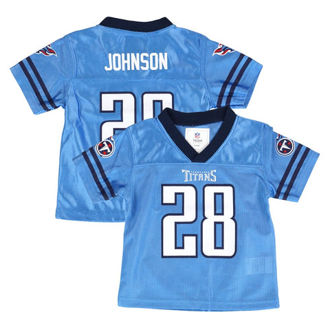 Chris Johnson Tennessee Titans NFL Team Home Light Blue Jersey Newborn Infant SZ
