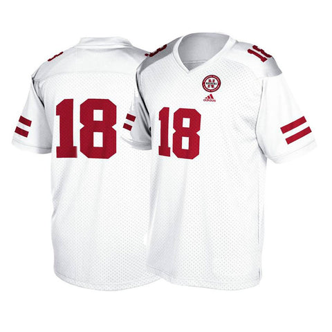 Nebraska Cornhuskers #18 NCAA Youth White Official Football Replica Jersey