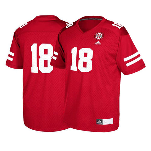 Nebraska Cornhuskers #18 NCAA Adidas Youth Red Official Football Replica Jersey