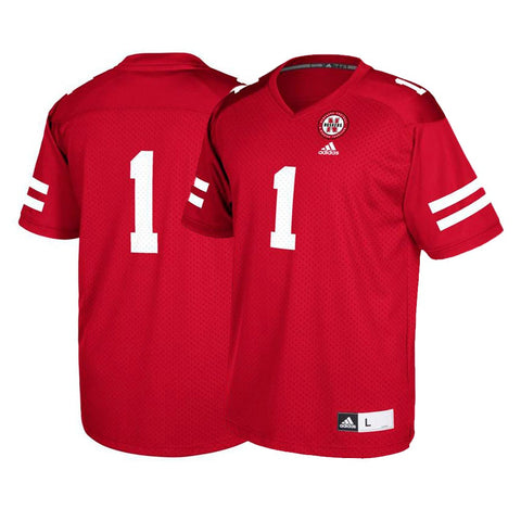 Nebraska Cornhuskers #1 NCAA Adidas Youth Red Official Football Replica Jersey