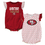 "San Francisco 49ers NFL Infant Red/White ""Polka Fan"" 2 Piece Creeper Set"