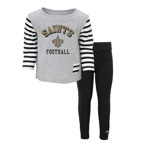 "New Orleans Saints NFL ""Little Big Girl"" Long Sleeve T-Shirt & Pants Set Infant"
