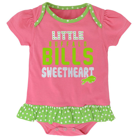 "Buffalo Bills NFL Infant Pink ""Little Sweet"" Creeper, Bib & Bootie Set"