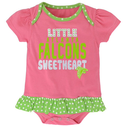 "Atlanta Falcons NFL Infant Pink ""Little Sweet"" Creeper, Bib & Bootie Set"