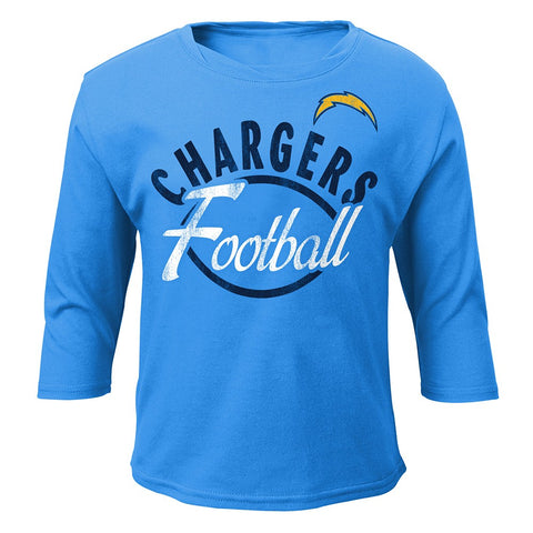 Los Angeles Chargers NFL Girls Long Sleeve T-Shirt & Pants Set Toddler (2T-4T)