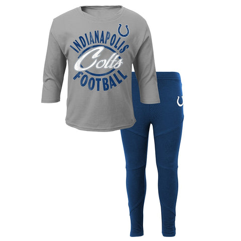 Indianapolis Colts NFL Girls Long Sleeve T-Shirt & Pants Set Toddler (2T-4T)