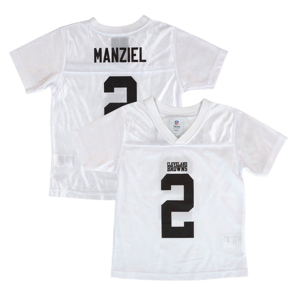 Johnny Manziel Cleveland Browns NFL White Replica Jersey Toddler (2T-4T)
