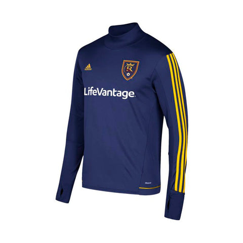Real Salt Lake MLS Adidas Men's Navy Blue Climacool Long Sleeve Training Jersey