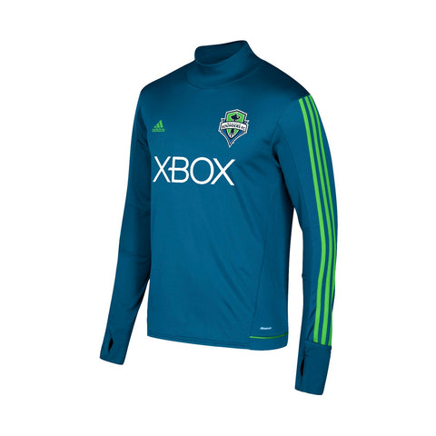 Seattle Sounders FC MLS Adidas Men's Blue Climacool Long Sleeve Training Jersey
