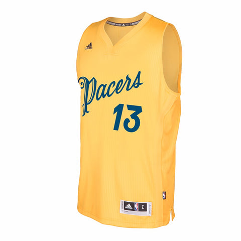 Paul George Indiana Pacers NBA Adidas Gold 2016 Christmas Swingman Jersey