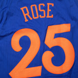Derrick Rose New York Knicks NBA Adidas Blue 2016 Christmas Swingman Jersey