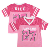 Ray Rice Baltimore Ravens NFL Fashion Pink Replica Jersey Girls Toddler (2T-4T)