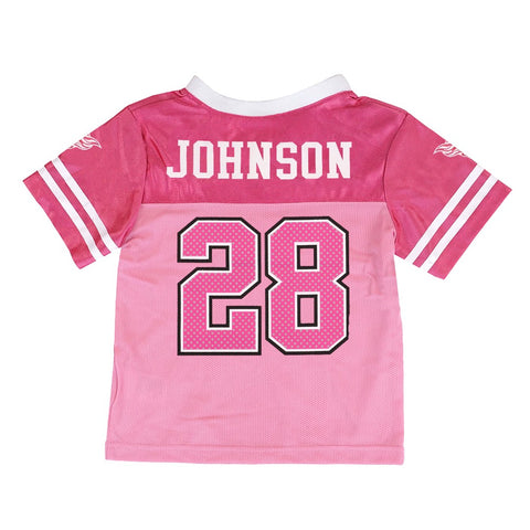 Chris Johnson NFL Tennessee Titans Mid Tier Pink Fashion Toddler Jersey (2T-4T)