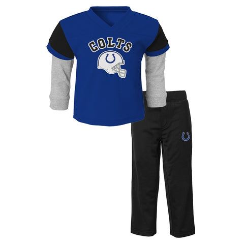 "Indianapolis Colts NFL Blue ""Charger"" Long Sleeve & Pants Set Toddler (2T-4T)"