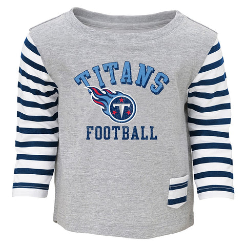 "Tennessee Titans NFL Grey ""Little Big Girl"" T-Shirt & Pants Set Toddler (2T-4T)"