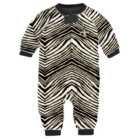 "New Orleans Saints NFL Toddler Infant ""Flex"" Full Zip Up Coverall (2T-4T)"