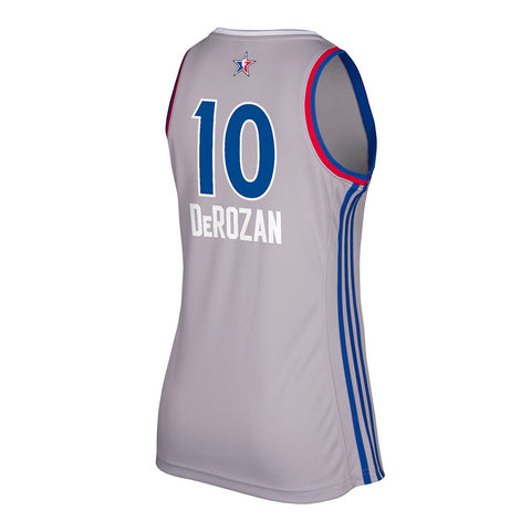 DeMar Derozan Toronto Raptors NBA Women's Grey 2017 All Star East Replica Jersey
