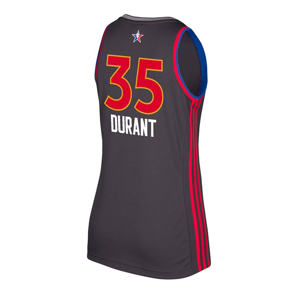 Kevin Durant Golden State Warriors NBA Women's 2017 All Star West Replica Jersey