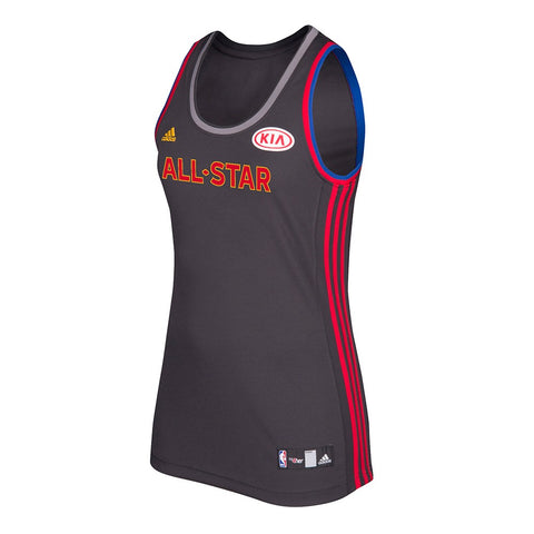 All Star NBA Adidas Women's Black 2017 Official All Star West Replica Jersey
