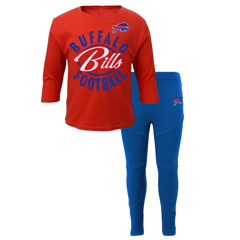"Buffalo Bills NFL ""Football Sweetheart"" T-Shirt & Pants Set Little Girls (5-6X)"