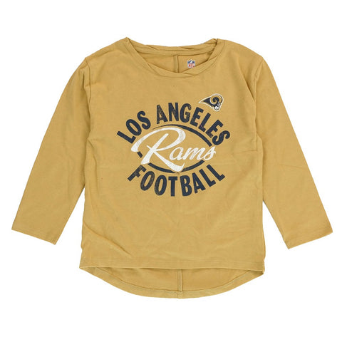 "Los Angeles Rams ""Football Sweetheart"" T-Shirt & Pants Set Little Girls (4-6X)"