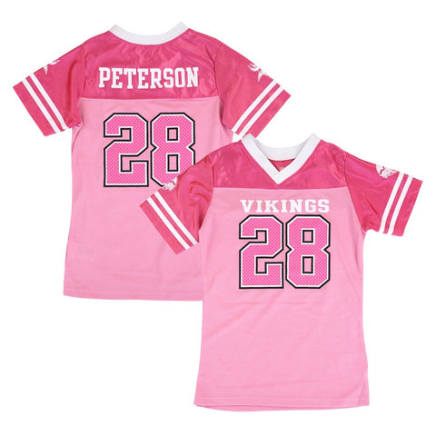Adrian Peterson NFL Minnesota Vikings Fashion Pink Jersey Little Girls (4-6)