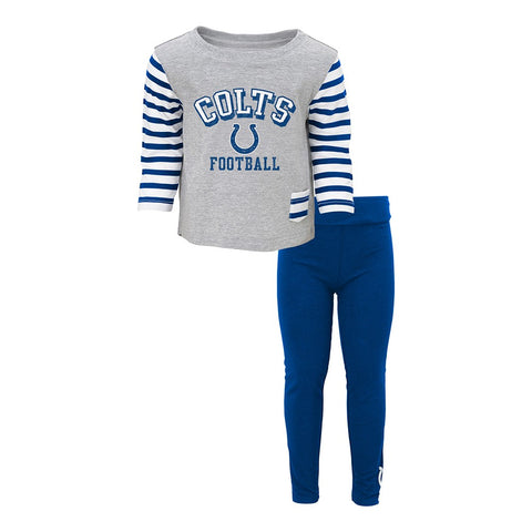 Indianapolis Colts NFL Grey  Long Sleeve T-Shirt & Pants Set Little Girls (4-6X)