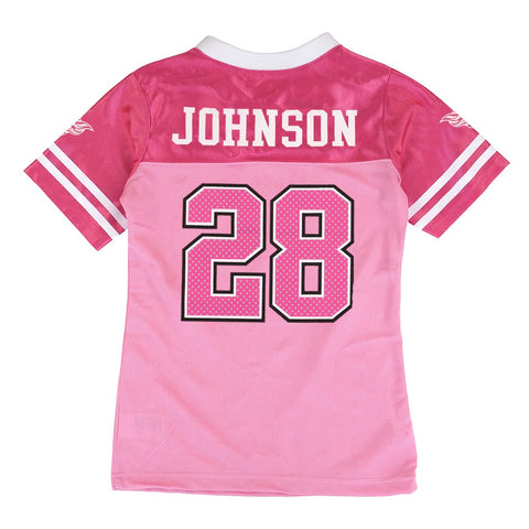 Chris Johnson NFL Tennessee Titans Fashion Pink Jersey Little Girls (4-6)