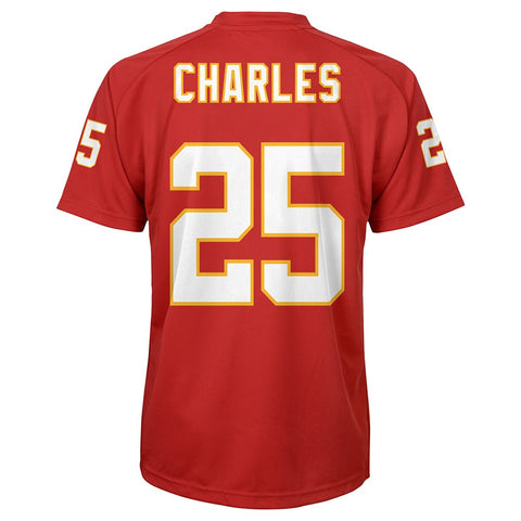 Jamaal Charles NFL Kansas City Chiefs Player Replica Home Jersey Tee Boys (4-7)