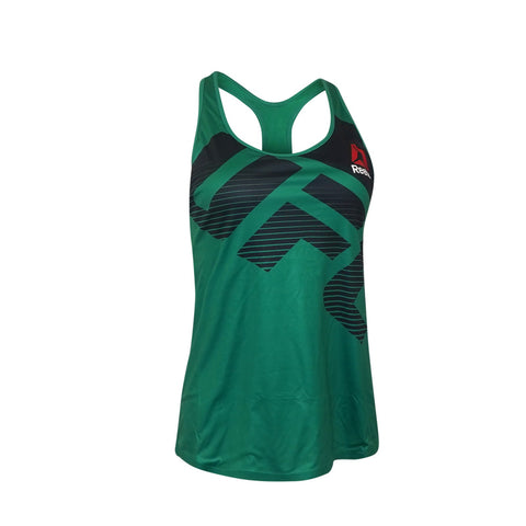 Reebok UFC Women's Basil Green Fight Night Speedwick Racerback Long Bra Top