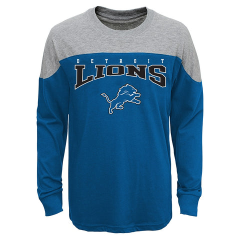 "Detroit Lions Outerstuff NFL Boys Blue ""Drafted"" Long Sleeve T-Shirt"