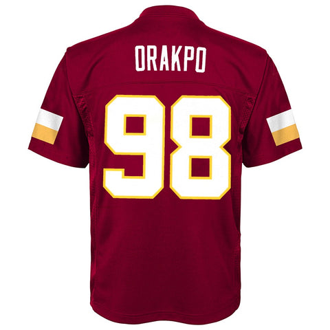 Brian Orakpo NFL Washington Redskins Mid Tier Replica Home Jersey Boys (4-7)
