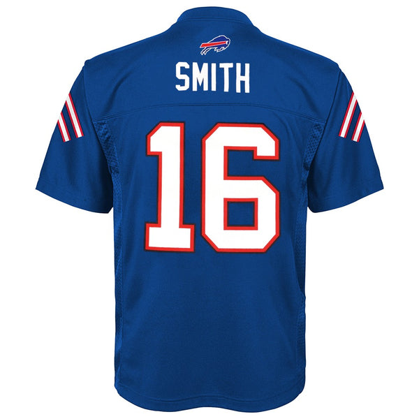 Bruce Smith NFL Buffalo Bills Mid Tier Replica Home Blue Jersey Boys (4-7)