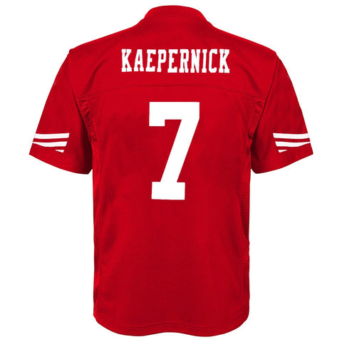 Colin Kaepernick NFL San Francisco 49ers Mid Tier Replica Home Jersey Boys (4-7)