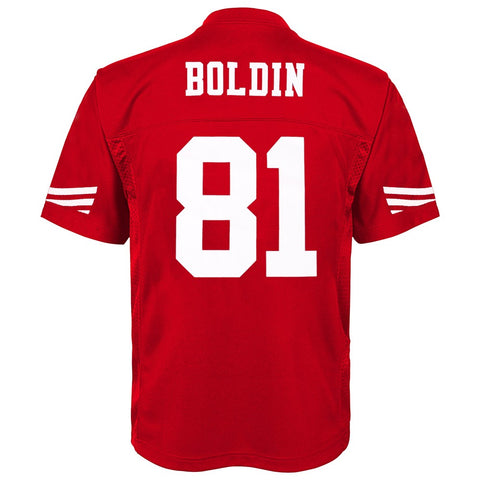 Anquan Boldin NFL San Francisco 49ers Mid Tier Replica Home Jersey Boys (4-7)
