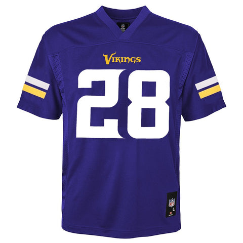 Adrian Peterson NFL Minnesota Vikings Mid Tier Replica Home Jersey Boys (4-7)