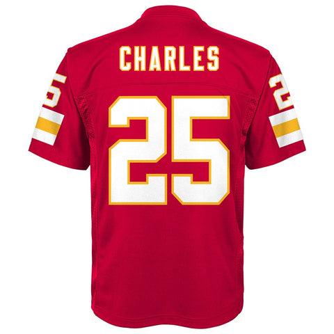 Jamaal Charles NFL Kansas City Chiefs Mid Tier Replica Home Jersey Boys Sz (4-7)