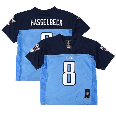 Matt Hasselbeck NFL Tennessee Titans Mid Tier Blue Home Jersey Boys (4-7)