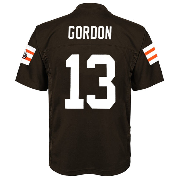Josh Gordon NFL Cleveland Browns Mid Tier Replica Home Brown Jersey Boys (4-7)