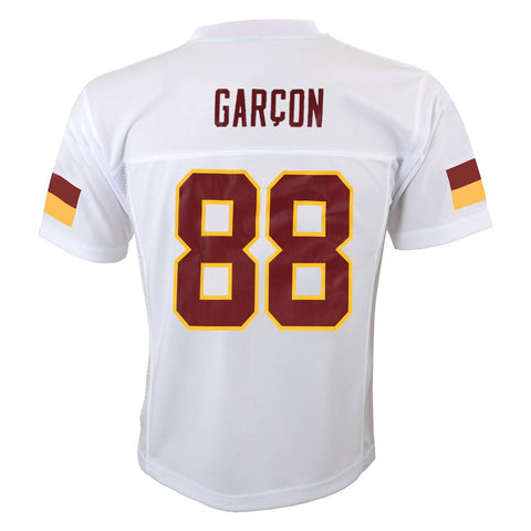 Pierre Garcon NFL Washington Redskins Mid Tier White Away Jersey Boys (4-7)