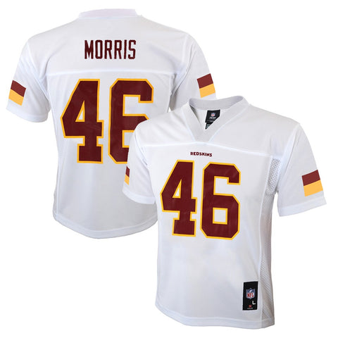 Alfred Morris NFL Washington Redskins Mid Tier White Away Jersey Boys (4-7)